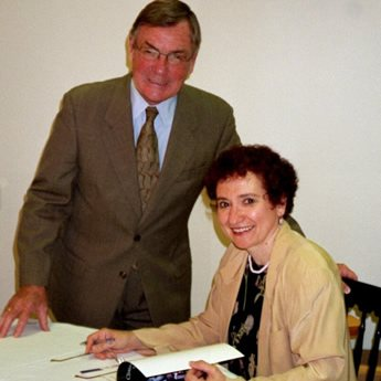 Marian at the book signing, which took place at ARC's annual meeting.