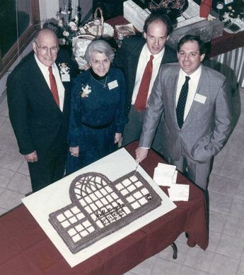 Ivan, Florence, Jody, and Dusty Hoyt at the Enfield headquarters opening in 1988.