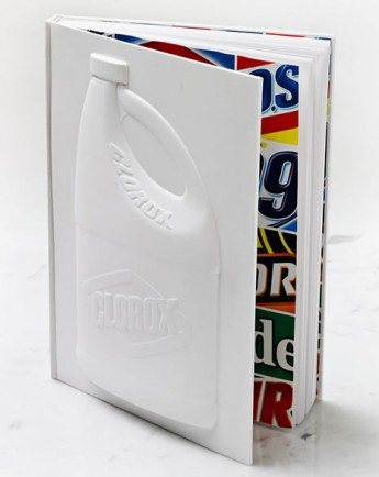 In conceptualizing and designing The Clorox Company: 100 Years, 1000 Reasons, Morla Design chose to have the book embody, quite literally, the iconic bottle. The vacuum-formed cover was created out of a bas relief die, with input from the Clorox engineering staff to insure accuracy. Collaborating with author Marian Calabro of CorporateHistory.net, Morla created a 200-page book that draws extensively on images, quotes, and letters.