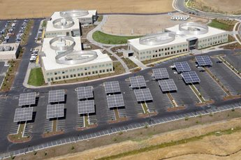 Solar panels on SCIF's Vacaville campus help tell the environmental story.
