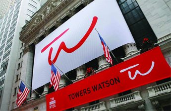 On January 4, 2010, the newly formed Towers Watson rang the opening bell at the New York Stock Exchange.